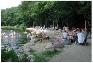 Badestelle am Mühlenteich