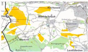 Karte Windflächen